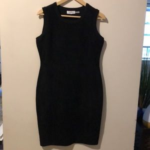 Faux Suede sleeveless dress